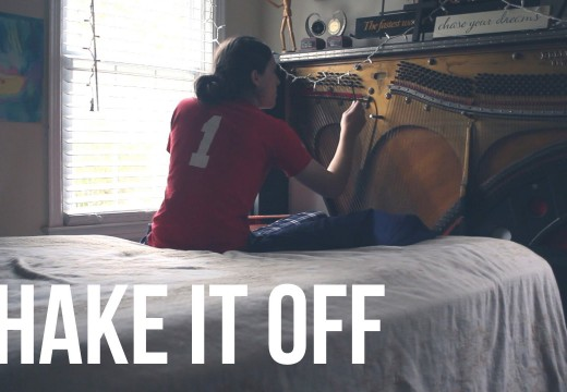 """Shake It Off"" Piano headboard cover"
